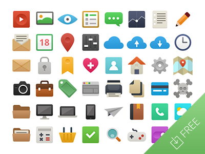2013-09-16-flat-free-vector-icons